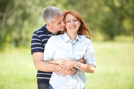 Happy mature couple outdoor.